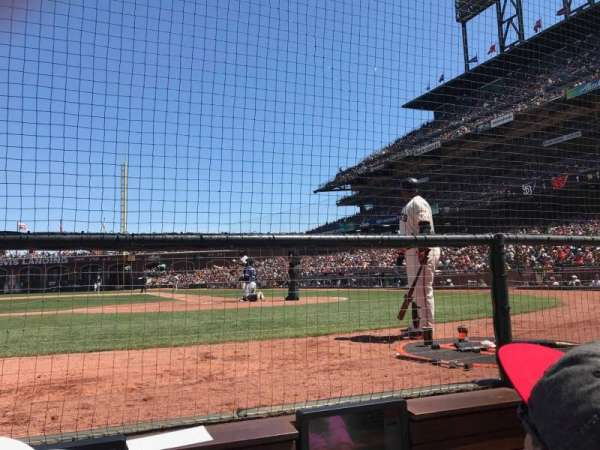 AT&T Park, section: DC121, row: BBB, seat: 3