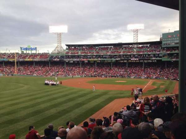 Fenway Park, section: 33, row: 7, seat: 9
