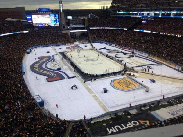 Gillette Stadium.  2016 Winter Classic, section: 319, row: 1