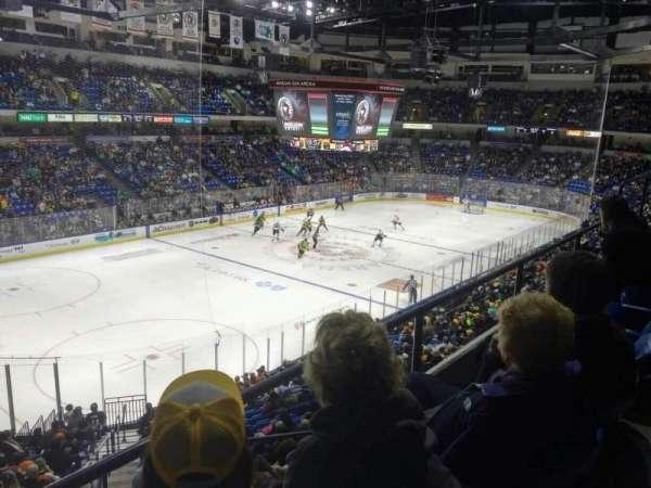 Mohegan Sun Arena at Casey Plaza, section: 220, row: B, seat: 13