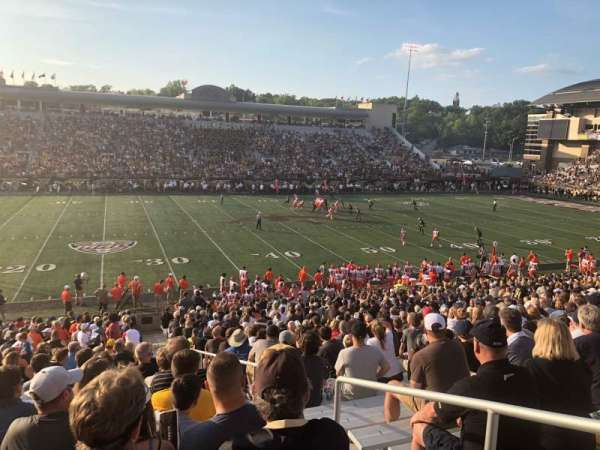 Waldo Stadium, section: F, row: 22, seat: 27