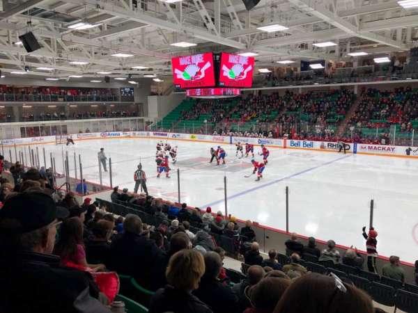 CAA Arena, section: 106, row: 12, seat: 8