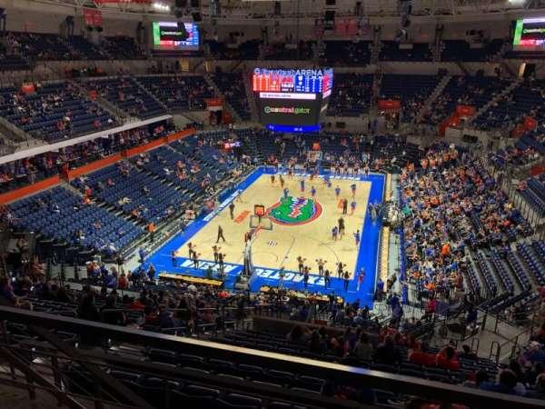 Exactech Arena, section: 218, row: 3, seat: 13