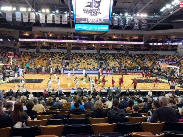 CFE Arena, section: 106, row: T, seat: 14