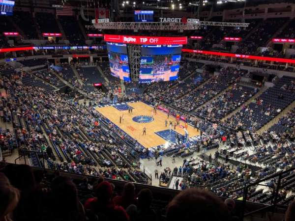 Target Center, section: 205, row: K, seat: 3