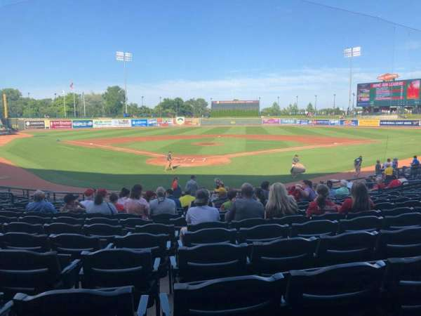 Dow Diamond, section: 108, row: 18, seat: 10