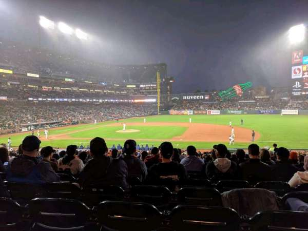 Oracle Park, section: 107, row: 31, seat: 8