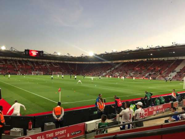 St Mary's Stadium, section: 4748, row: H, seat: 1209