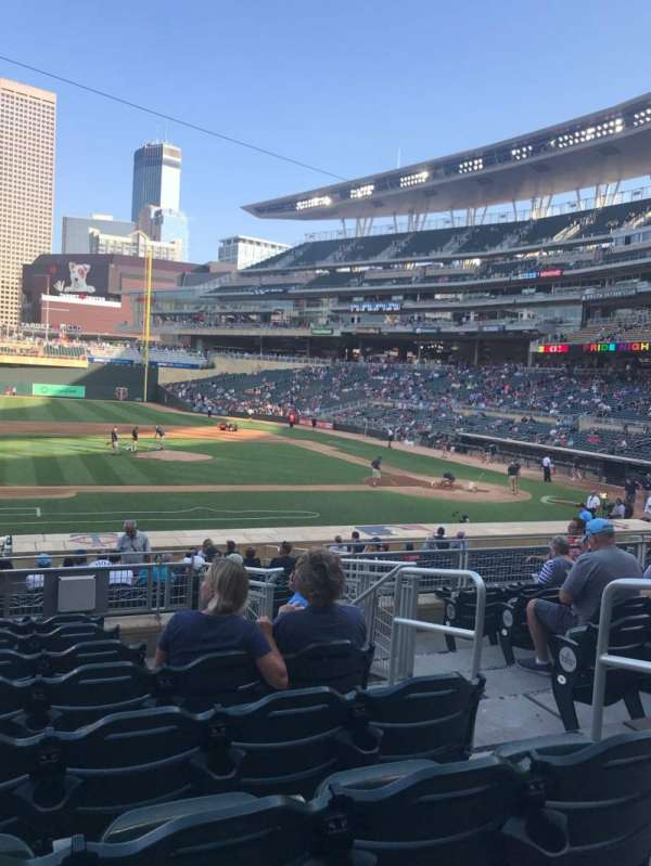 Target Field, section: 120, row: 8, seat: 4