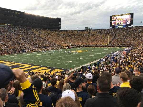 Michigan Stadium, section: 8, row: 25, seat: 13