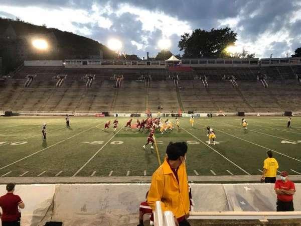Percival Molson Memorial Stadium, section: V1, row: 1, seat: 21