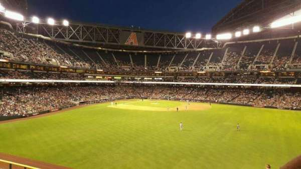 Chase Field, section: Strikezone, row: GA2, seat: 38