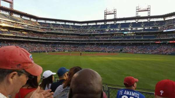 Citizens Bank Park, section: 102, row: 4, seat: 3