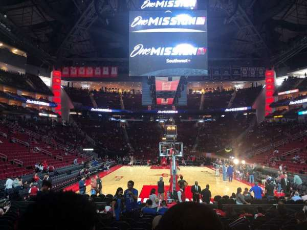 Toyota Center, section: 101, row: 6, seat: 1
