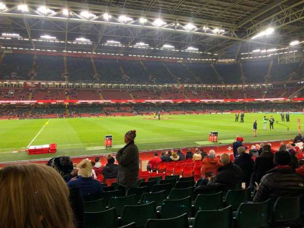 Principality Stadium, section: L11, row: 17, seat: 22