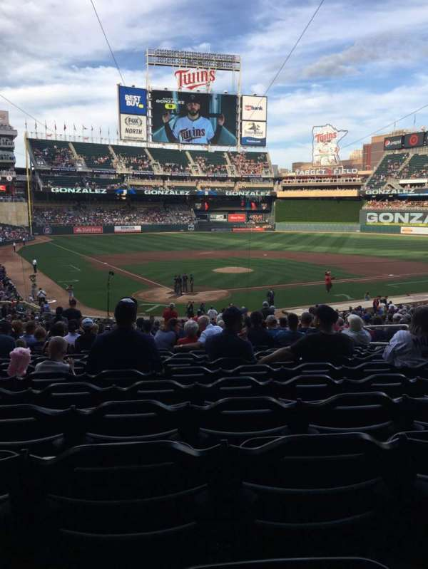 Target Field, section: 112, row: 21, seat: 8