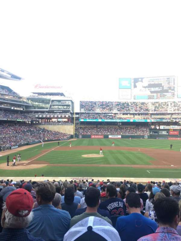 Target Field, section: 109, row: 13, seat: 15