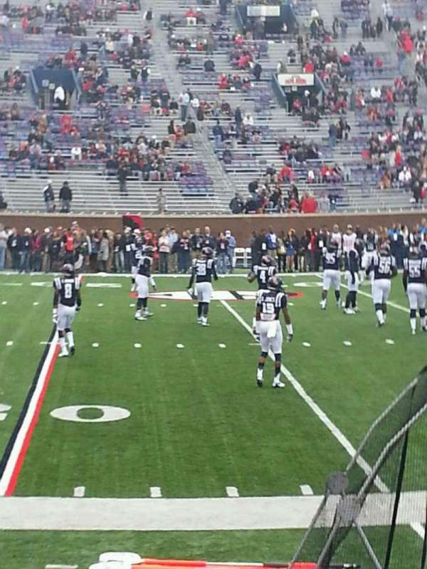 Vaught-Hemingway Stadium, section: Q, row: 5, seat: 16