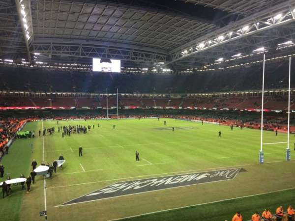 Principality Stadium, section: M1, row: 5, seat: 5