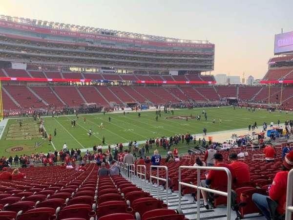 Levi's Stadium, section: 121, row: 33, seat: 1