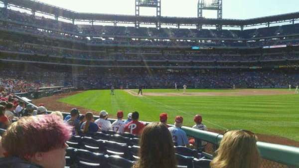 Citizens Bank Park, section: 109, row: 8, seat: 8