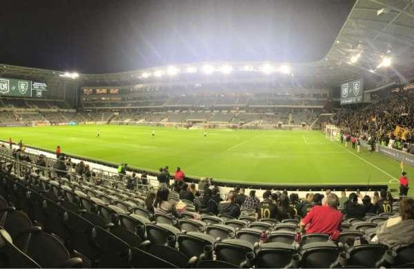 Banc of California Stadium, section: 109, row: M, seat: 20