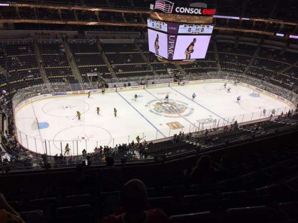 PPG Paints Arena, section: 222, row: G, seat: 18