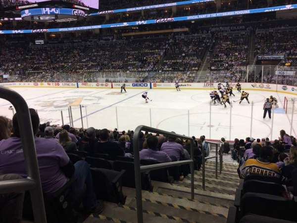 PPG Paints Arena, section: 121, row: S, seat: 18