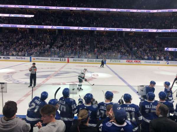 Amalie Arena Section 101 Home Of Tampa Bay Lightning