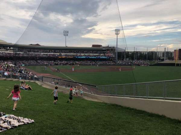 Fifth Third Field (Dayton), section: Lawn, row: A, seat: 3