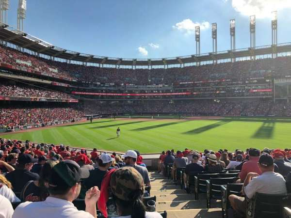 Progressive Field, section: 107, row: S, seat: 1