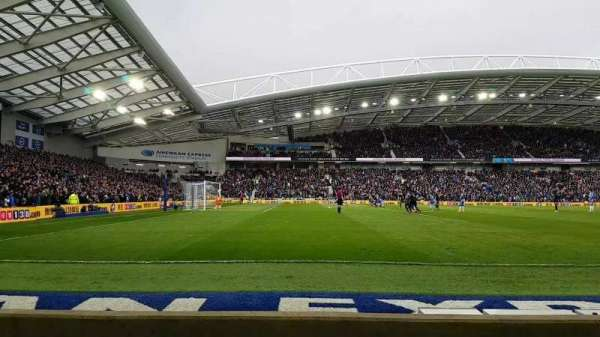 American Express Community Stadium, section: W1H, row: C, seat: 193