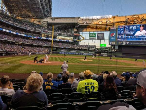 Miller Park, section: 115, row: 9, seat: 5