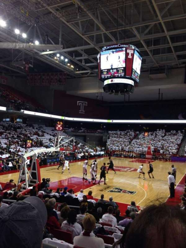 Liacouras Center, section: 107, row: M, seat: 5