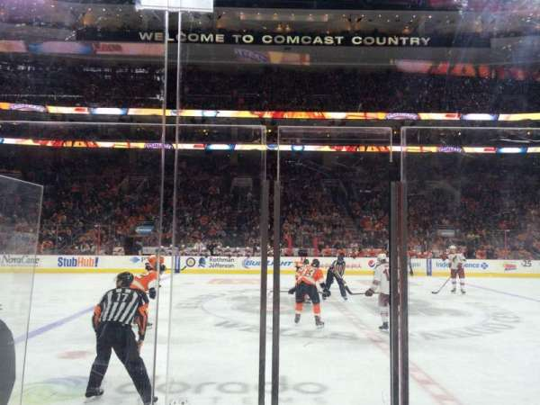 Wells Fargo Center, section: 113, row: 4 , seat: 3