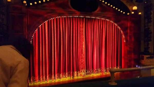 Shubert Theatre, section: Mezzanine Left, row: B, seat: 3