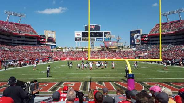 Raymond James Stadium, section: 123, row: G, seat: 5