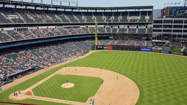 Globe Life Park in Arlington, section: 335, row: 1, seat: 16