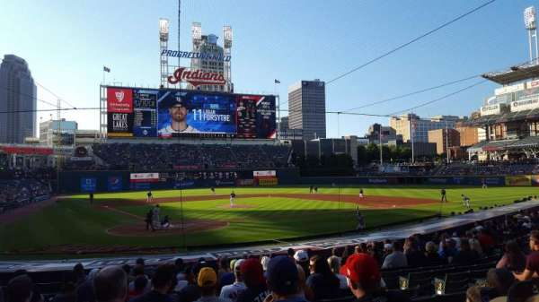 Progressive Field, section: 151, row: U, seat: 8