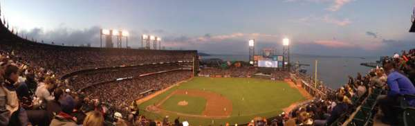 Oracle Park, section: VR307, row: 8, seat: 18