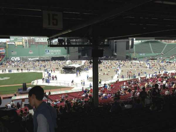 Fenway Park, section: Grandstand 15, row: 19, seat: 15