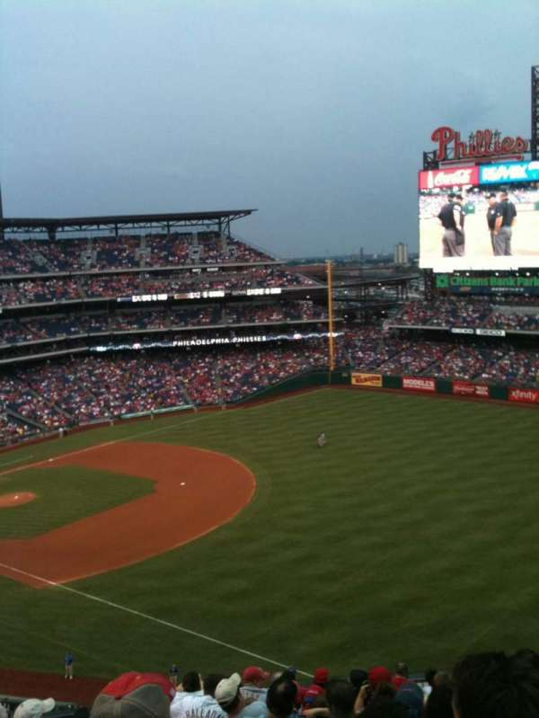 Citizens Bank Park, section: 309, row: 12, seat: 13