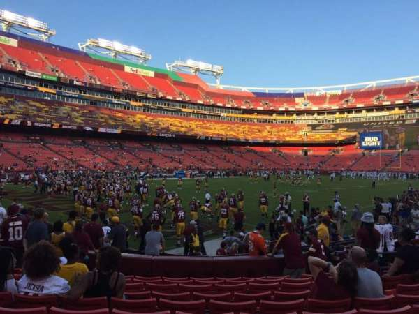 FedEx Field, section: 106, row: 10, seat: 16