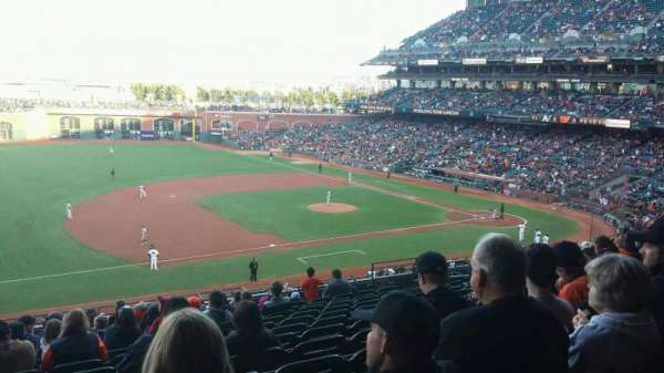 Oracle Park, section: 225, row: M, seat: 11