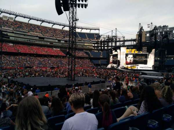Gillette Stadium, section: 135, row: 13, seat: 12