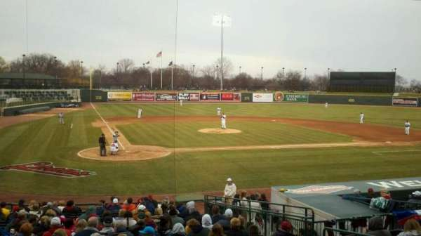 Dow Diamond, section: 109, row: 19, seat: 7