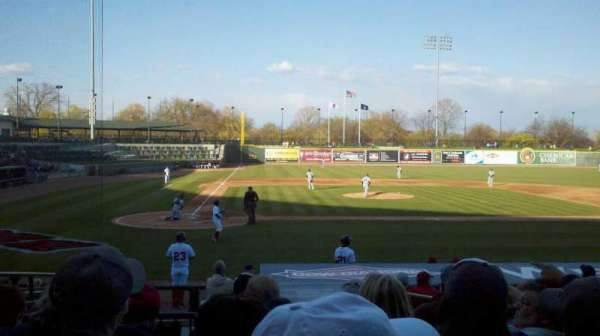 Dow Diamond, section: 110, row: 15, seat: 5
