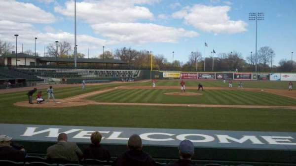 Dow Diamond, section: 111, row: 10, seat: 7