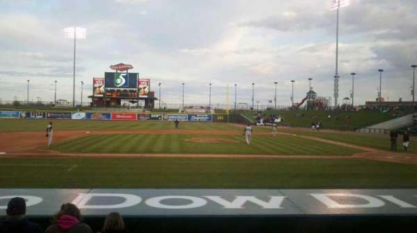 Dow Diamond, section: 104, row: 9, seat: 6