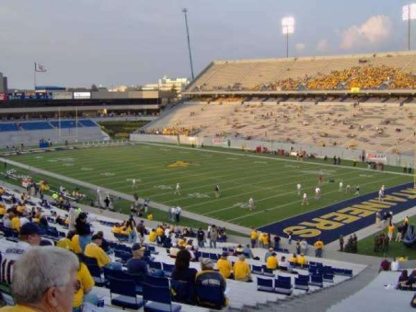 Mountaineer Field, section: 131, row: 49, seat: 2